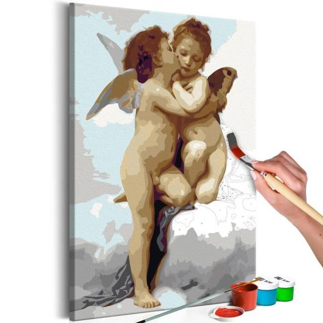Obraz do samodzielnego malowania - Aniołki (miłość)