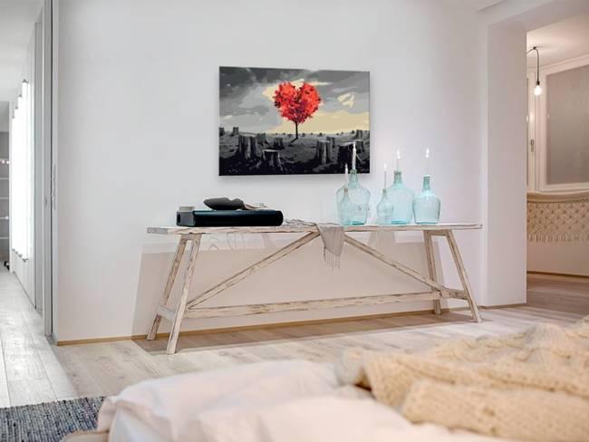 Obraz do samodzielnego malowania - Drzewo w kształcie serca