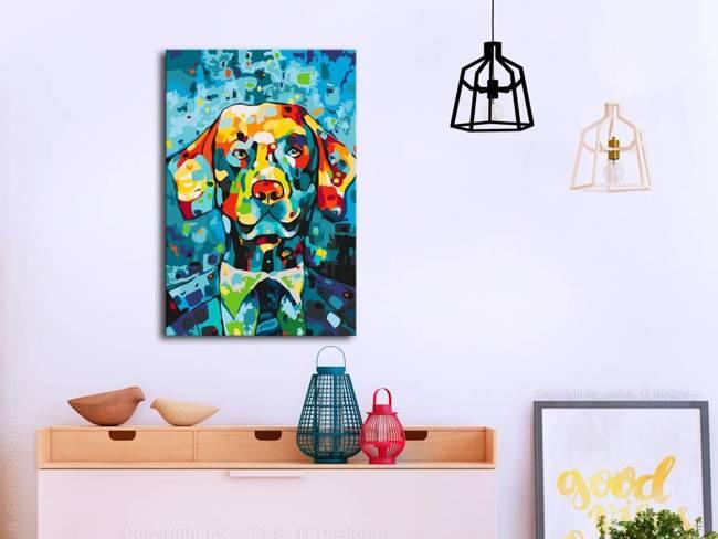 Obraz do samodzielnego malowania - Pies (portret)