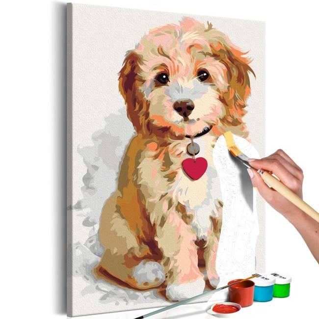 Obraz do samodzielnego malowania - Piesek (szczeniak)