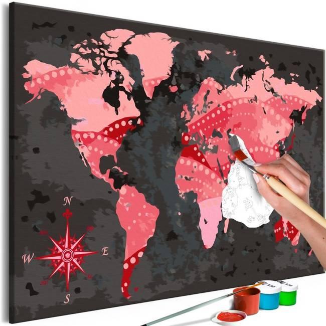 Obraz do samodzielnego malowania - Świat kinematografii
