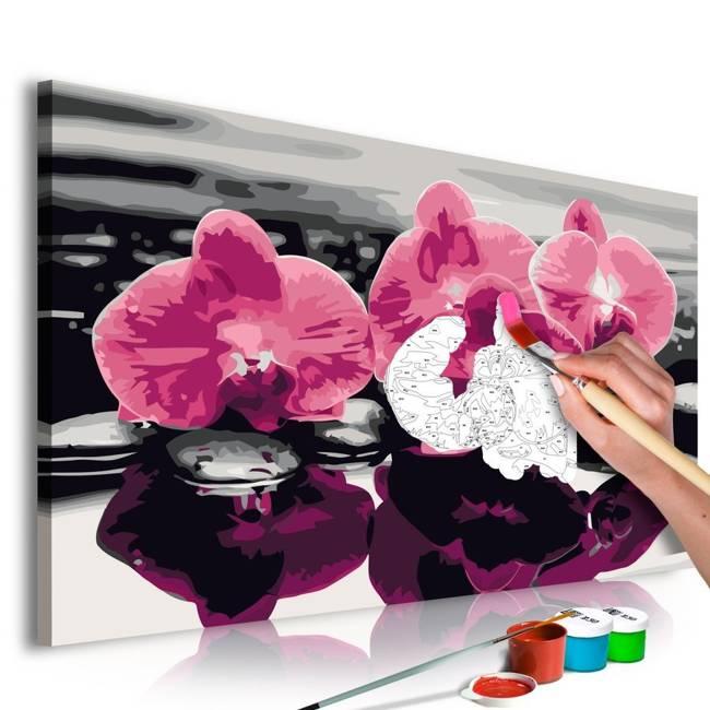 Obraz do samodzielnego malowania - Trzy orchidee
