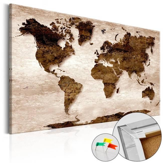 Obraz na korku - Brązowa Ziemia [Mapa korkowa]