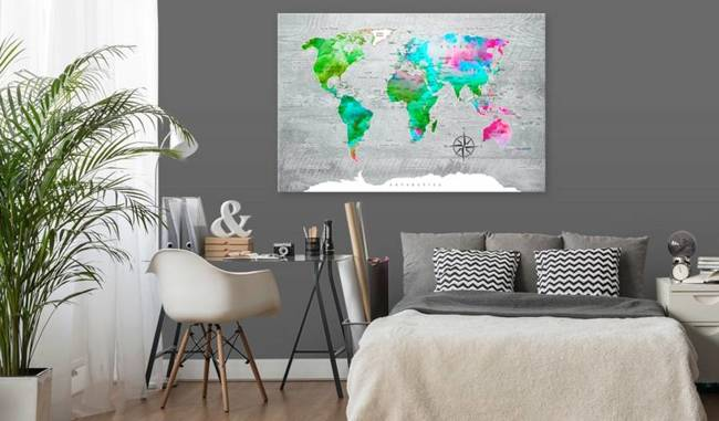 Obraz na korku - Zielony raj [Mapa korkowa]