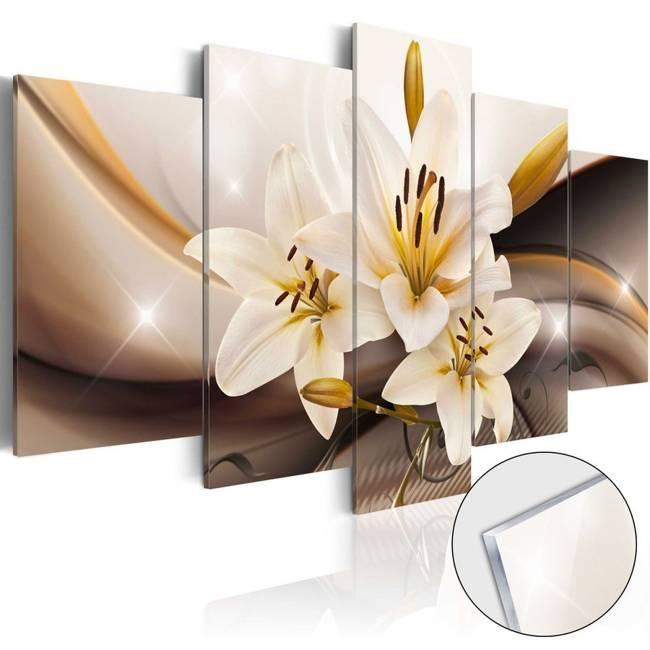 Obraz na szkle akrylowym - Lśniąca lilia [Glass]