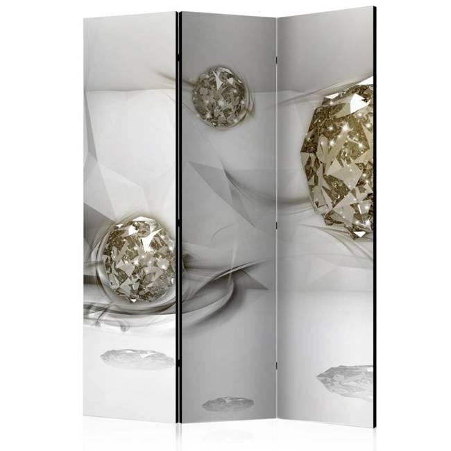 Parawan 3-częściowy - Abstrakcyjne diamenty [Room Dividers]