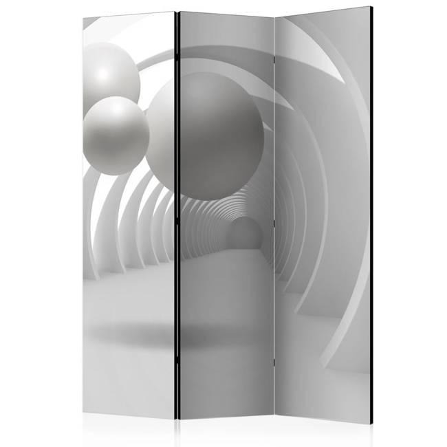 Parawan 3-częściowy - Biały tunel [Room Dividers]