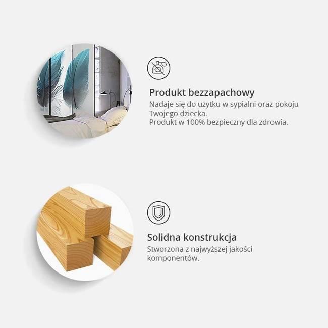 Parawan 3-częściowy - Kamienny motyl [Room Dividers]