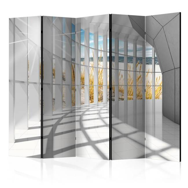 Parawan 5-częściowy - Nadmorski bastion II [Room Dividers]