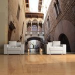 Fototapeta - Barcelona Palau generalitat in gothic Barrio