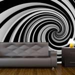 Fototapeta - Black and white swirl