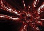 Fototapeta Czerwony abstrakcyjny kwiat 3532