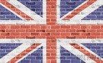 Fototapeta Flaga Wielkiej Brytanii na cegłach 518