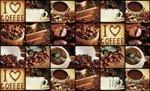 Fototapeta Kawowy kolaż I Love Coffee 3459