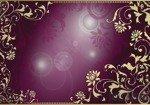 Fototapeta Kwiatowy ornament na fioletowym tle 2660