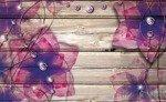 Fototapeta Kwiaty na deskach 3554