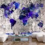 Fototapeta - Mapa świata: kleksy
