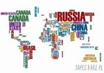 Fototapeta Mapa świata - napisy 3676