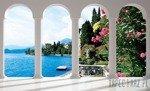 Fototapeta Widok na jezioro Como przez kolumny 2355