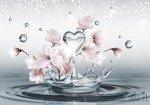 Fototapeta Wodne serce i kwiaty 3491