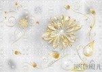 Fototapeta Złote kwiaty 883