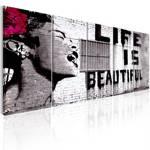 Obraz - Banksy: Życie jest piękne