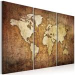 Obraz - Mapa świata: brązowa tekstura