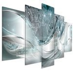 Obraz - Nowoczesne dmuchawce (5-częściowy) niebieski szeroki