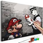 Obraz do samodzielnego malowania - Mario (Banksy)