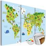 Obraz na korku - Dziecięcy świat [Mapa korkowa]