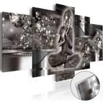Obraz na szkle akrylowym - Srebrny spokój [Glass]